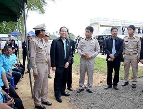 รัฐมนตรีเกษตรฯ ติดตามสถานการณ์น้ำ จ.เพชรบุรี